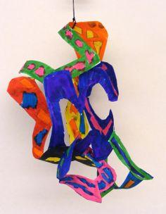 Field Elementary Art Blog!: Frank Stella Paper Sculptures