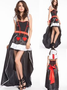 Free shipping Queen of hearts Alice in Wonderland Costume Fancy Dress & Tiara Ladies plus size halloween costume S-2XL in stock #Plus Size Halloween Costumes 5x http://www.ku-ki-shop.com/shop/plus-size-halloween-costumes/free-shipping-queen-of-hearts-alice-in-wonderland-costume-fancy-dress-tiara-ladies-plus-size-halloween-costume-s-2xl-in-stock/