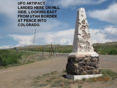 UTAH/COLORADO STATE LINE old route 6. arrow shows location of UFO encounter by bob white Arrow Show, Ufo Sighting, Ancient Aliens, Utah, Colorado, Statue, Bob, Museum, Travel