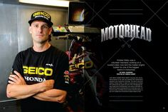 In the 1990s, Kristian Kibby was a volunteer mechanic in the Australian Nationals; today he's GEICO Honda's master technician and engine builder. Page 144.
