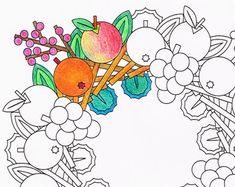 Página para colorear de Mandala ronda de dulces por CandyHippie