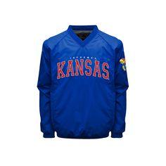 Men's Franchise Club Kansas Jayhawks Coach Windshell Jacket, Size: Medium, Blue