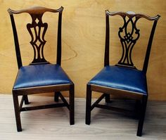 Classic Chippendale side chairs.  Reproduced to the original characteristics.