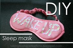Talking Trash & Wasting Time: DIY One Direction sleep mask