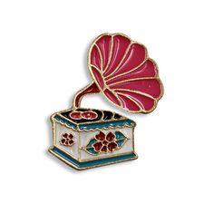 TURNTABLE PIN: Record Player, Records, Victrola, Phonograph, Handmade, Enamel Pin, Music, Dj, Gift, Cute Jacket Pins, Christmas Gifts by VinylLoversUnite on Etsy