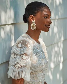 """BHLDN Weddings on Instagram: """"We recommend zooming in to see *all* the dreamy details of this dress from @needleandthreadlondon. (Link in bio to shop the Needle & Thread…"""" Bhldn, Needle And Thread, Wedding Attire, Shopping, Instagram, Dresses, Jewelry, Vestidos, Jewlery"""