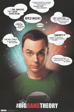 Big Bang Theory Sheldon Quotes Jim Parsons TV Show Poster 22x34