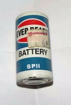 Old style batteries. They didn't last very long, but most things battery operated didn't draw too much back then. Flashlights transistor radios, and such.