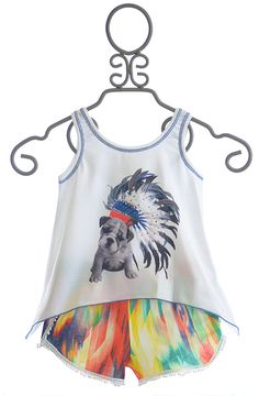 Little Mass Indian Summer Top and Shorts with Dog $68.00