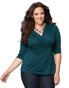 Katniss Knit Top (2X, Teal We Meet Again) From The Plus Size Fashion Community At www.VintageAndCurvy.com