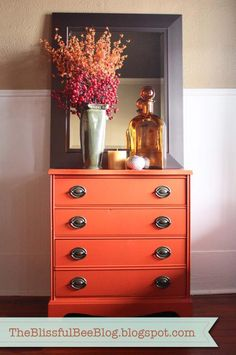 Wish I knew what color this is. I would like to paint an old night stand this…