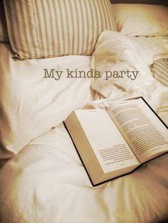 Reading in bed!  My