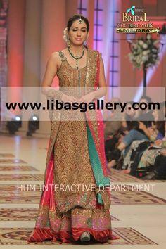 Umar sayeed collection from Telenor Bridal Couture Week 2014-2015 Online Shopping for Shalwar Kameez, Bridal Lehenga Choli, Sharara, Gharara, Sherwani Jewelry www.libasgallery.com