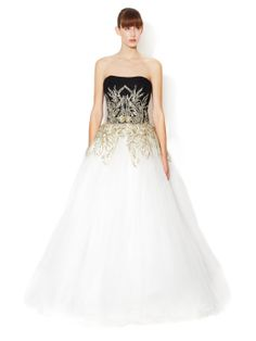 Silk Tulle Strapless Ballgown by Marchesa Couture at Gilt