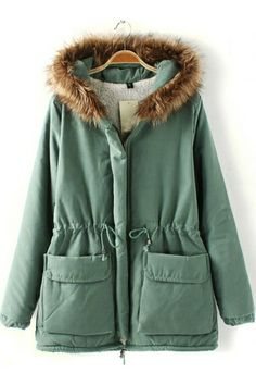 Must-have Drawstring Hooded Coat OASAP.com