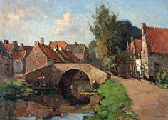 Henk van Leeuwen (1890-1972). Linschoterbrug te Oudewater.