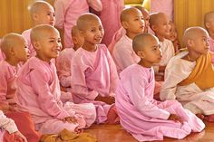 Novice nuns, Myanmar by john spies on 500px,Many girls, some as young as four, enter monasteries to study both Buddhist and secular texts. This monastery school housed 150 girls. Near Hsipaw, Shan State