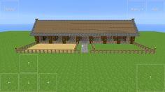 Minecraft 7 stall stables Minecraft Farmen, Modern Minecraft Houses, Minecraft Structures, Minecraft Construction, Minecraft Architecture, Minecraft Crafts, Minecraft Buildings, Minecraft House Tutorials, Minecraft Tutorial