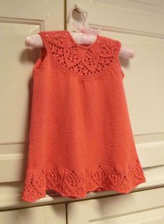 Knitting Pattern for Meredith Baby Dress Baby Dress