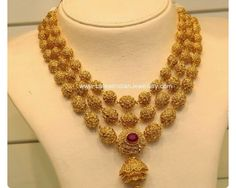 Gold balls layers necklace