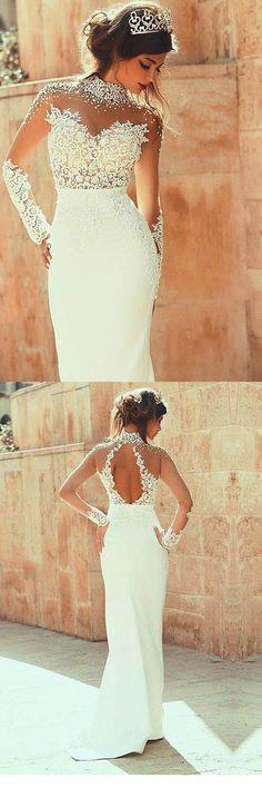 2018 Wedding Dresses #2018WeddingDresses, Lace Wedding Dresses #LaceWeddingDresses