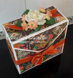 Claudia's Karteria Decorative Boxes, Blog, Cute, Crafts, Home Decor, Boxes, Bricolage, Candles, Handmade