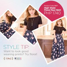 Floral prints look fab on every body type!  Get this dainty maxi skirt now at www.usoplus.com!  **For inquiries and orders, message us or send an SMS to 09284475784 #WearUSO