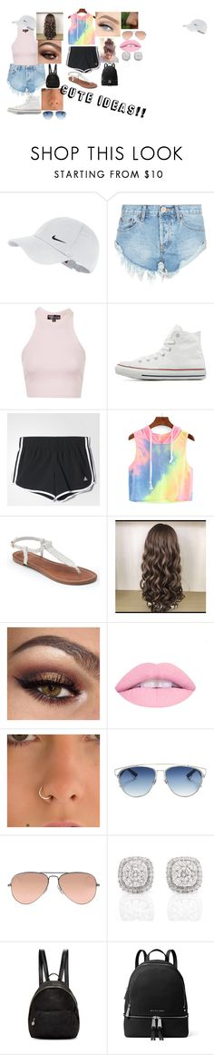 """""""Cute Random Ideas, For Any Days"""" by hannahisbeauty on Polyvore featuring NIKE, One Teaspoon, Topshop, Converse, adidas, WithChic, Apt. 9, Christian Dior, Ray-Ban and STELLA McCARTNEY"""