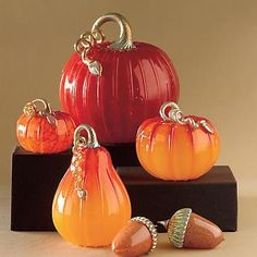 Hand-blown glass pumpkins--I believe I need these :)