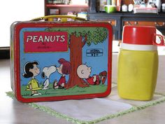 1973 Peanuts Lunch Box (back) w/ thermos