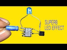 Super LED Effect Using 555 IC - YouTube Electronics Basics, Cool Electronics, Electronics Projects, Physics Projects, Led Projects, Electronic Circuit Design, Computer Maintenance, Speaker Box Design, Raspberry Pi Projects