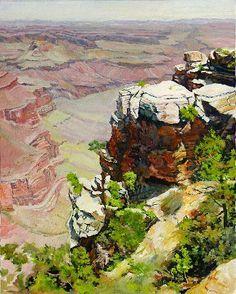 """Grand Canyon View"" - Original Fine Art for Sale - © Elaine Hahn"