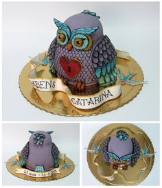 owl tattoo cake