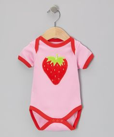 Take a look at this beauty & the bib Red Strawberry Bodysuit - Infant on zulily today!