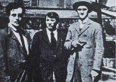 from left- Modigliani, Picasso,  Andre Salmon