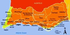 Map of the Algarve Portugal and its beaches
