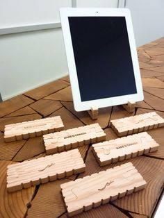 The iSimple is a portable, simplistic, incredibly stable iPad stand! Each is unique and hand branded.  mansouridesign.com
