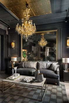The Black Parisian Interior Design For Home Office | Home Sweet ...