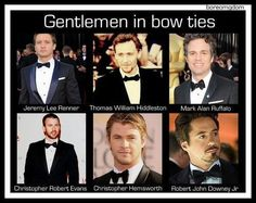 Steven and I were just talking about bow ties! These men work that bow tie!