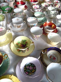 """I see a couple of pricey collectibles in this lot so be careful before you do craft...you could be crafting your way out of $100's...previous poster said...""""so many possible crafts with this flock of tea cups!"""""""