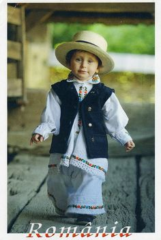 The boy dressed in Maramures costume, Maramures, Romania