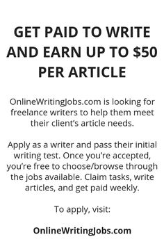 No matter where you live, landing lucrative writing assignments does not need to be difficult. The secret to a profitable freelance writing career is to start small and build it from there. Ways To Earn Money, Earn Money From Home, Earn Money Online, Online Jobs, Way To Make Money, Writing Test, Writing Jobs, Legit Work From Home, Work From Home Jobs