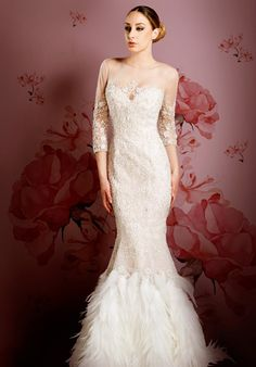 Visit StarDust for the extensive collection of designer wedding gowns and couture experience that garner our recognition as the best bridal salon DFW. Low Back Wedding Gowns, Wedding Gowns With Sleeves, Sexy Wedding Dresses, Bridal Dresses, Designer Wedding Gowns, Dress Hairstyles, Bridal Salon, Mermaid Gown, Celebrity Dresses