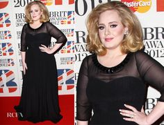Adele no Brit Awards 2012.