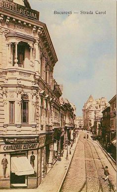 Bucuresti Strada Carol Old Pictures, Old Photos, Capital Of Romania, Places Around The World, Around The Worlds, Little Paris, Bucharest Romania, Beautiful Park, Back In Time