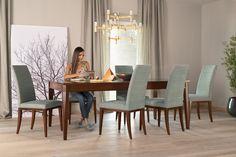 Dining table VARIA with table leg Nico: http://www.selva.com/en/news/varia-the-variable-table-system/22-85701.html #Selva #furniture #designfurniture #tablesystem