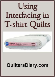 Interfacing in T-Shirt Quilts