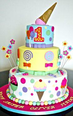 Icecream Theme Cake