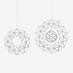 MOON 3d Shapes, Handmade Ornaments, Paper Art, Origami, Folk, Ceiling Lights, Pendant, Pattern, Christmas