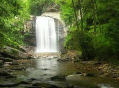 Looking Glass Waterfall in NC...Beautiful Done